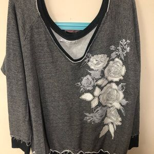Worn once!! Off the shoulder sweatshirt